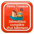 DEVIS-TRAVAUX-GRATUITS-Démolition complète d'un bâtiment Devis Services