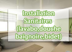 installation sanitaires lavabo douche baignoire bidet devis services. Black Bedroom Furniture Sets. Home Design Ideas