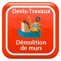 DEVIS-TRAVAUX-GRATUITS-Démolition de murs Devis Services