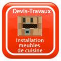 DEVIS-TRAVAUX-GRATUITS-Installation meubles de cuisine