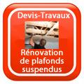 DEVIS-TRAVAUX-GRATUITS-Rénovation de plafonds suspendus Devis Services