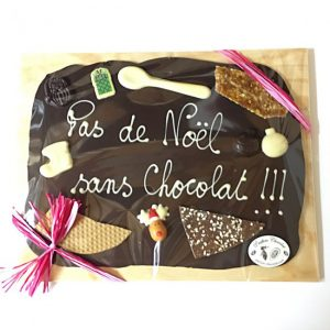 cadeaux de Noël chocolat personnalisé pas cher